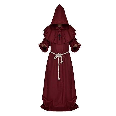 ZP-Ween Disfraz De Halloween Traje De Monje Monje Medieval ...