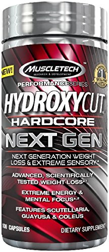 Hydroxycut Hardcore Next Gen, Scientifically Tested Weight Loss and Energy, Weight Loss Supplement, 100 Capsules Review