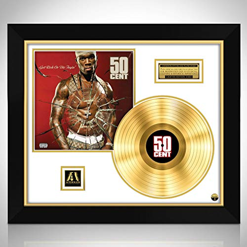 50 Cent 'Get Rich or Die Tryin' - Limited Collectors Edition Studio Licensed Gold LP Custom Frame