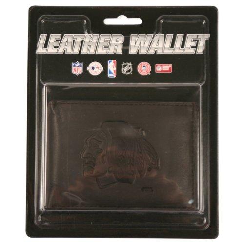 NHL Leather Wallet Tri-fold - Chicago Blackhawks - Black