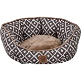 Precision Pet SnooZZy Ikat Clamshell Bed Gray