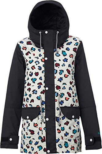 Burton TWC Troublemaker Jacket Womens SZ (Cheetah Snowboard Jacket)