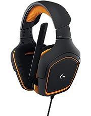 LogitechG231 Gaming-Kopfhörer Prodigy Stereo (mit Mikrofon für PC, XboxOne und PS4) schwarz/orange