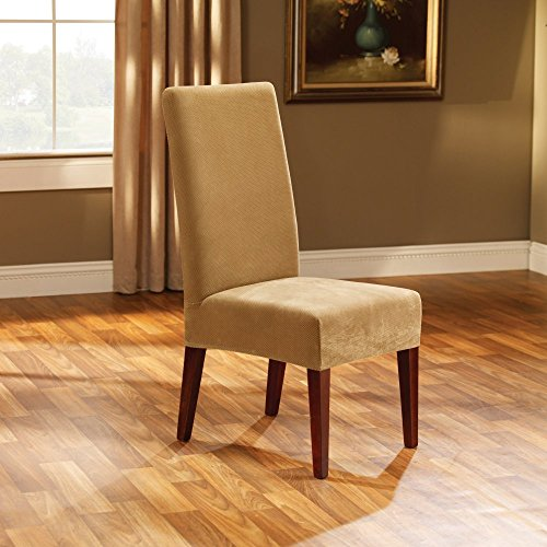 Sure-Fit Stretch Pique Short Chair Slipcover