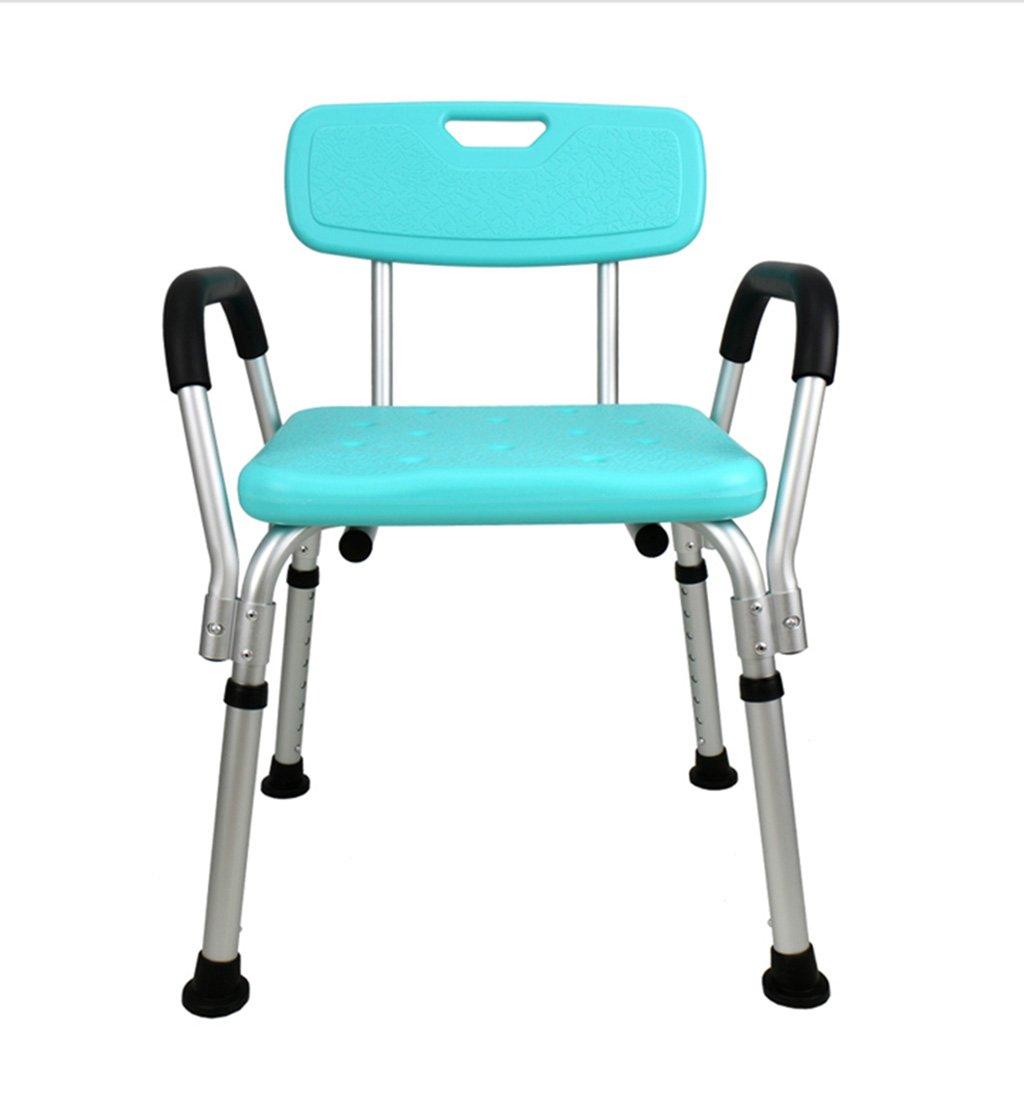 GRJH® シャワー椅子、ノンスリップ肘掛け付き背もたれ付きリムーバブルバスルームオールドマンシャワーチェア 防水,環境の快適さ B079989RT1