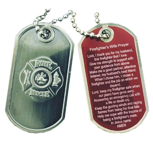 Firefighters Wife Prayer Brushed Steel product image