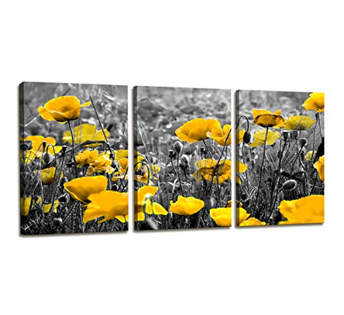 Canvas Wall Art Contemporary Simple Life Yellow