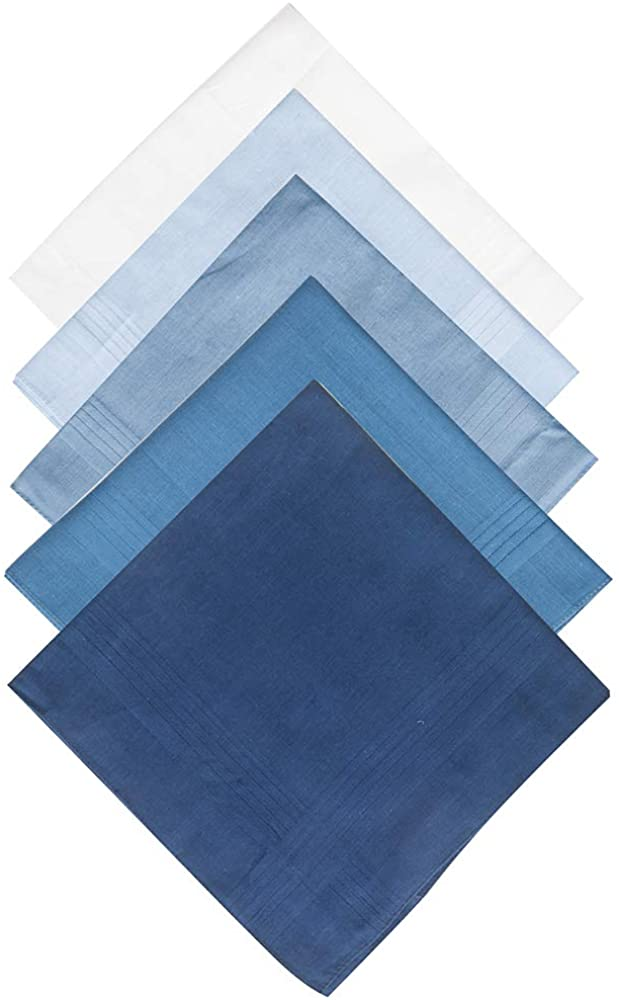 Selected Hanky 100% Pure Cotton Handkerchiefs with Stiching Assorted Color