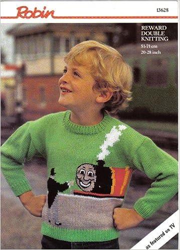 Robin Childrens Motif Jumper Knitting Pattern Thomas The Tank