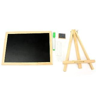 RUNWEI Apprendimento dei Bambini Tavolo da Disegno Bordo Graffiti riscrivibile Giocattoli educativi (19x26.5cm) (Colore : Nero)
