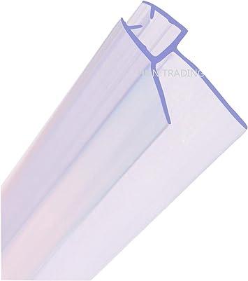 Junta para mampara de ducha HNNHOME de 4 a 6 mm, para vidrio recto o curvado, con separación de hasta 20 mm: Amazon.es: Bricolaje y herramientas