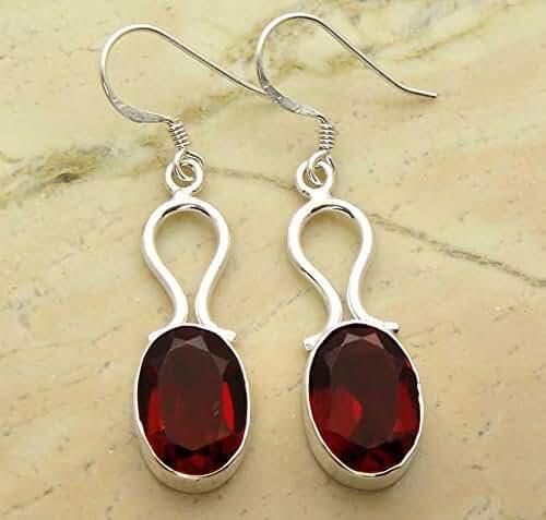 12.00ctw, 10X14mm Oval Genuine Gemstones & 925 Silver Plated Dangle Earrings