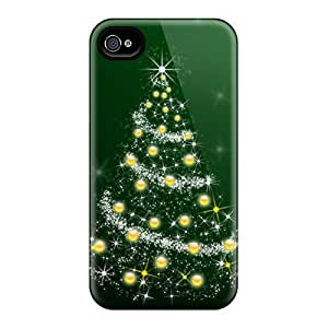 Fashion Protective Christmas Tree Hd Case Cover For Iphone 4/4s