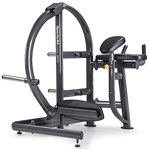 (SportsArt Fitness A975 Plate Loaded Rear Leg Kick Machine for Club Use - Commercial Leverage Leg Rear Kickback Trainer for Glutes and Hip Extension)