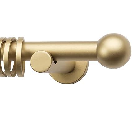Barra de cortina y con extremo de bola embellecedores para extremos de - latón - 120