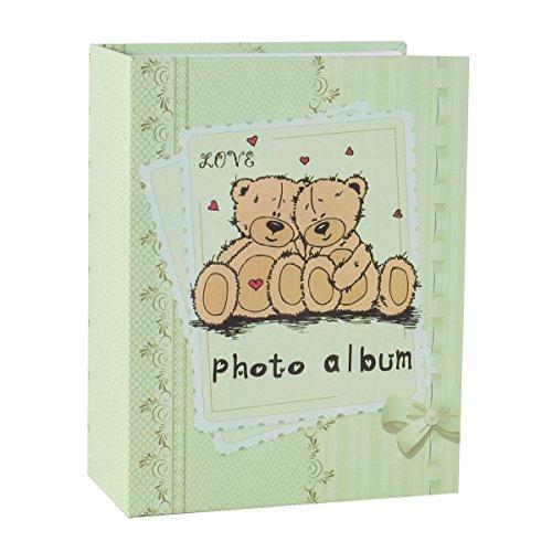 FaCraft Baby Photo Album 4x6 (Bear,Light-green) (Baby Bear Photos)
