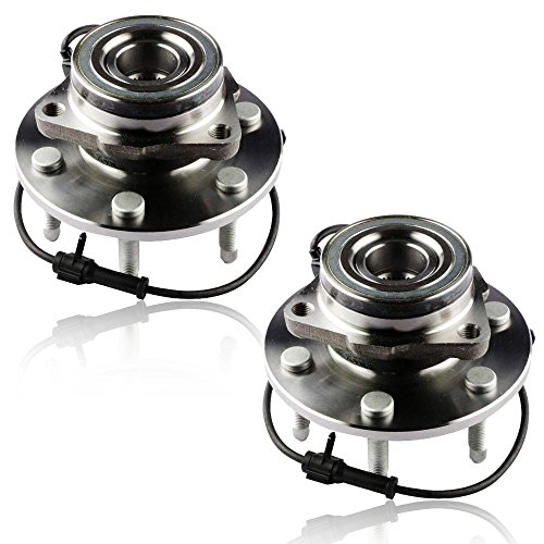 MOSTPLUS Wheel Bearing Hub Front or Rear Assembly for Escalade, Express, Savana, Sierra, Yukon, 2000-07 GMC/Chevy Only for 4WD With ABS 6 Lug 515036X2 (Set of 2)