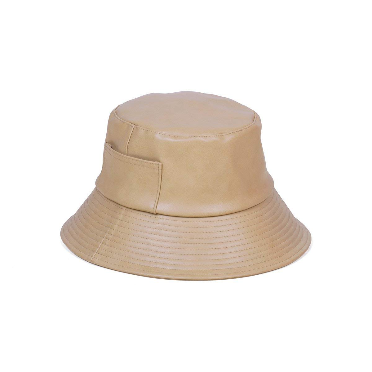 Lack of Color Women's Wave Faux-Leather Bucket Hat (Camel, Medium/Large) by Lack of Color