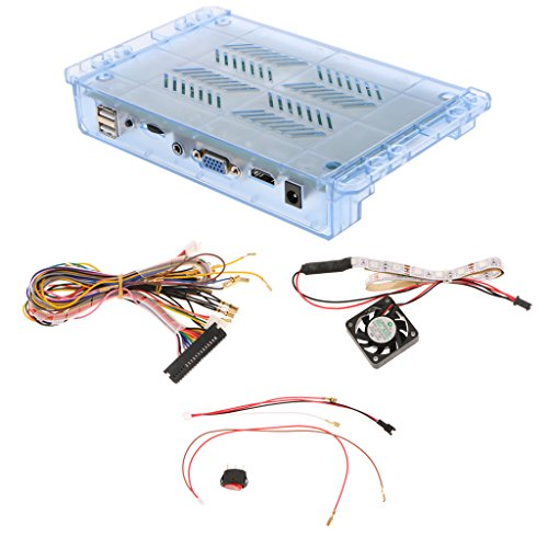 MagiDeal Arcade Diy Kit Box 5S 1299 Games in 1 Kit Bundle Classic Vintage Games Home Edition w/ Harness Wire and 5-Pin Power Cable, 12V5A HD outout support HDMI VGA
