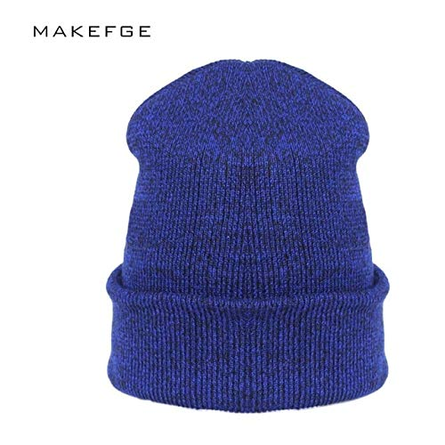 0bf6cba06e3 Elvy 2018 Autumn Woman Wool Knit Beanie Hat Cuff Beanie Watch Cap Spring  Skull Hats for Women Man touca Inverno Hip hop Turban hat  Amazon.in   Clothing   ...