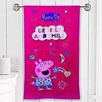 PEPI Peppa Pig Fabrics Cotton Bath Towel , Standard, PINK