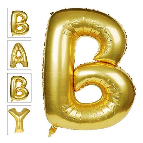Lovne 40 Inch Gold Alphabet B Balloon Birthday