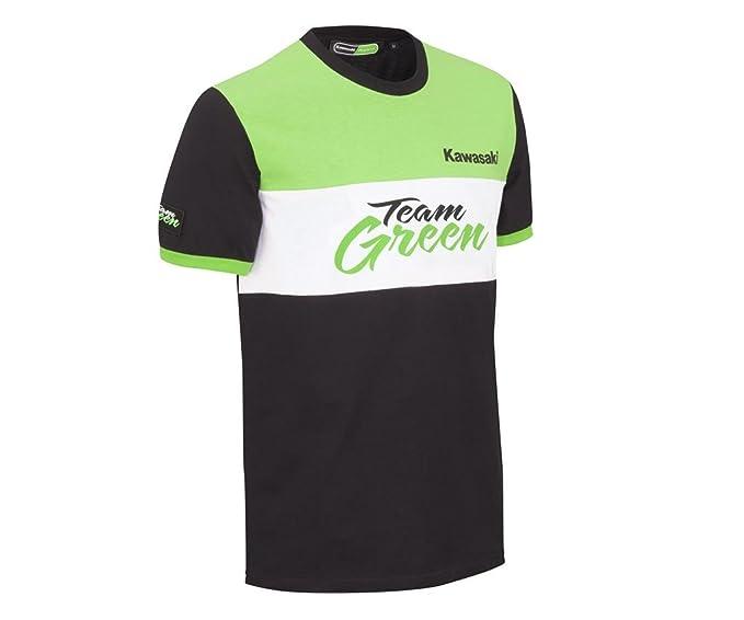 Kawasaki - Camiseta - para hombre schwarz grün weiß: Amazon.es: Ropa y accesorios