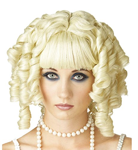 UHC Curly Gothic Vampire Ghost Doll Wig Adult Halloween Costume Accessory (Blonde)