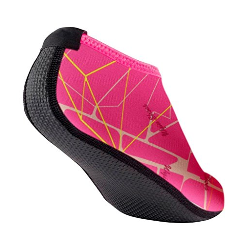 Ammazona Men Women Outdoor Water Sport Diving Swim Socks Yoga Socks Soft Beach Shoes Hot Pink aymMc317t2