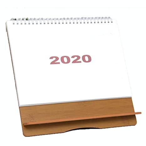 Calendario De Escritorio De Madera 2020 Calendario De Estilo ...