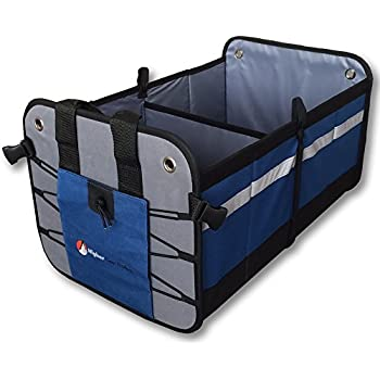 Premium Car Trunk Organizer - Best Heavy Duty Construction - Great For Car, SUV, Truck, Minivan, Home- Collapsible For Easy Storage Higher Gear Products