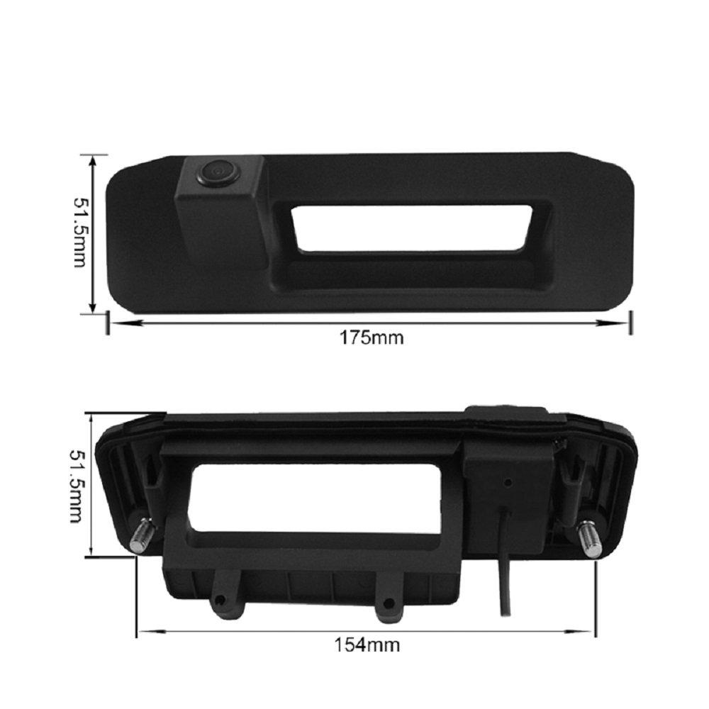 Wasserdicht Fahrzeug-spezifische Griffleiste Kamera integriert in Koffergriff R/ü ckansicht R/ü ckfahrkamera f/ü r A-Klasse W176 CLA C117 GL X166 ML W166 /(Model A= LS8014/(214 x 52 mm/)/) Misayaee MEILS8014-FBA