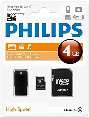 Philips Microsdhc Card 4gb Class 4 Mit Sd Und Usb Computer Zubehör