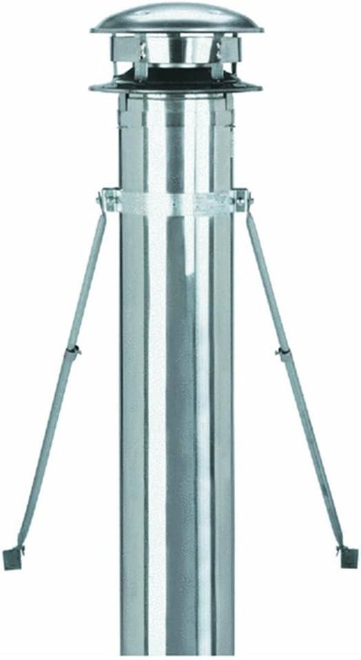 Selkirk Metalbestos 8T-RBK Stainless Steel Roof Brace Kit, 8-Inch - Chimney Roof Brace -