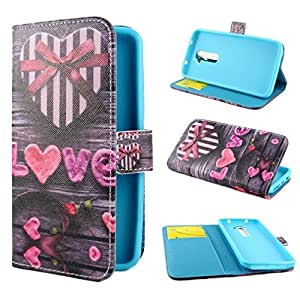 Leathlux Painting Art Design Wallet PU Leather Stand Flip Case Cover for LG G2