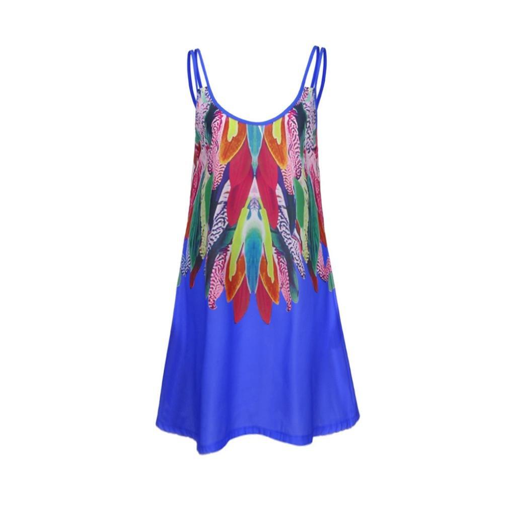 12f7e4b4591bb8 HCFKJ 2018 Mode Wing Damen Frauen O-Ansatz beiläufige Taschen-Sleeveless  über Knie-Kleid-Lose Partei-Kleid: Amazon.de: Bekleidung