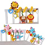 Baby Bucket Jollybaby Discovery Activity Spiral Crib Bed Soft Musical Toy Infant Rattle Stroller/Pram