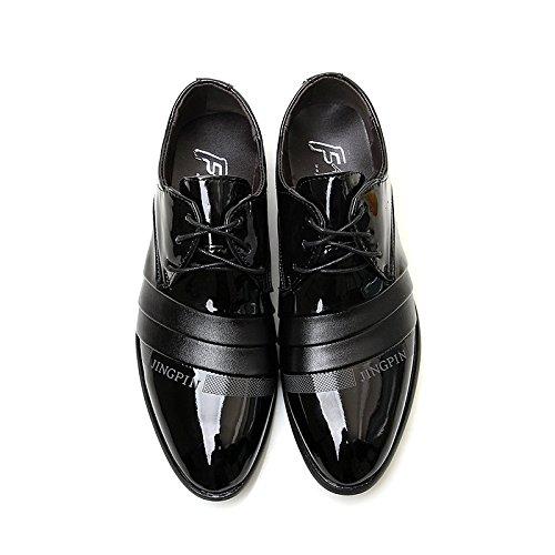 Chaussures Homme de Ville, Neuves Cuir PU à Lacets Mariage Derby Oxfords Chaussures Noir