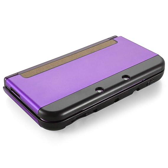 TNP New 3DS Funda (Morado) - Plástico + Aluminio Full Body ...