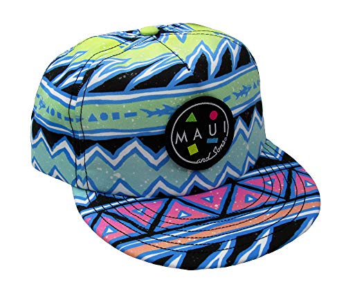 Maui & Sons Men's Boo-Ya Flip Up Brim Snapback Hat (Lime, One -