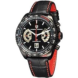 Pagani Design 44mm PVD Case Black Dial Chronograph Quartz Men's Wrist Watch