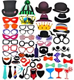 Set of 58 Photo Booth Props - Fun Props to Instantly Make Photo Booth Pictures More Interesting - Perfect for Any Occasion