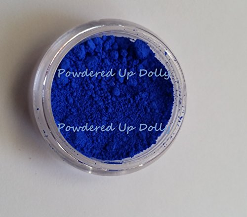 (BLUE ULTRAMARINE 10g (By Volume) Gram Grams Jar Sample for Soap Making Mineral Cosmetic Makeup Colorant Pigment Powder)