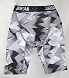 Jordan Jumpman Boys Black Gray Dri-Fit Training Compression Shorts Sz Med