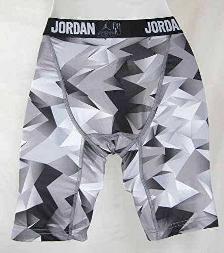Jordan Jumpman Boys Black Gray Dri-Fit Training Compression Shorts Sz Med by NIKE