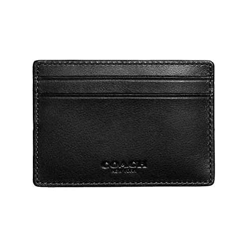 Coach Mens Money Clip Card Case in sport calf leather F75459 - Mens Outlet Coach