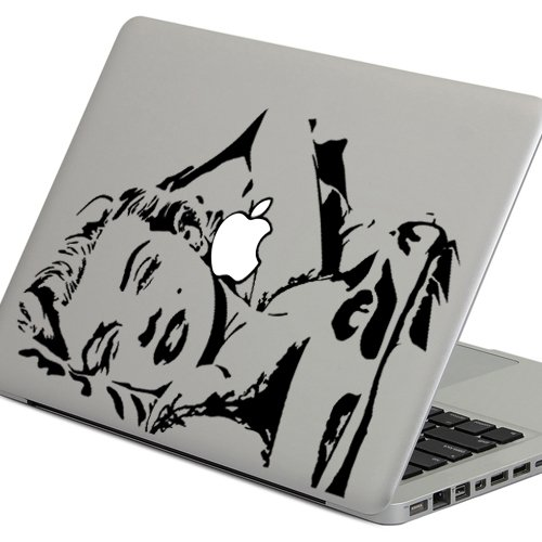 """iCasso Marilyn Monroe Removable Vinyl Decal Sticker Skin for Apple Macbook Pro Air Mac 13"""" inch / Unibody 13 Inch Laptop"""
