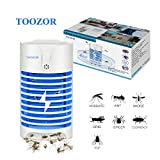 Toozor Electric Bug Zapper, Mosquito Killer with UV Light, Indoor Plug-in Bug Zapper, Insect Trap, Indoor Mosquito Trap, Electronic Kill Insects, Night Lamp for Killing Mosquitoes and Flying Gnats