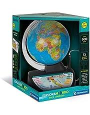 Clementoni - 16238 - Sapientino - lichtgevende wereldbol - elektronische interactieve wereldbol, leerwereldbol, 7 jaar elektronisch leerspel