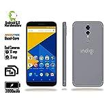 Indigi 2018 GSM Unlocked 4G LTE 5.6' Smartphone [ Android 6 + Quad-CORE 1.2GHz + Dual SIM + Fingerprint Scan) - White/Gold